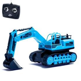 """Трактор радиоуправляемый """"Экскаватор"""", с аккумулятором, световые эффекты, цвета МИКС"""