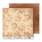 Бумага для скрапбукинга двусторонняя «Цветы», 30,5 х 30, 5 см, 180 г/м