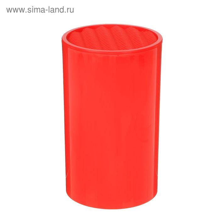 Подставка для ножей 18х11 см цвет красный