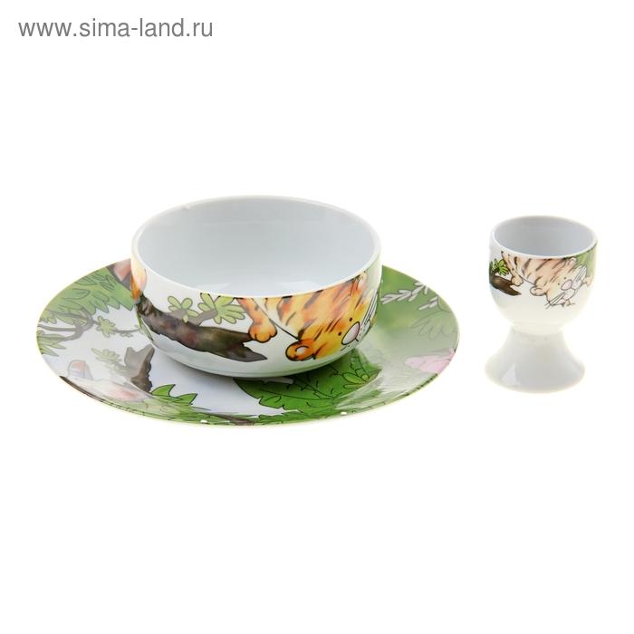 Набор детской посуды из 4 предметов Семейство кошачьих УЦЕНКА