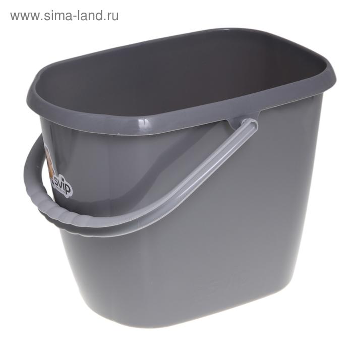 Ведро пластиковое 13 л, цвет серебро