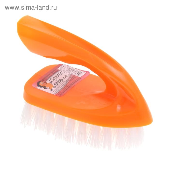 """Щетка универсальная """"Утюжок миди. Классика"""", цвет оранжевый"""