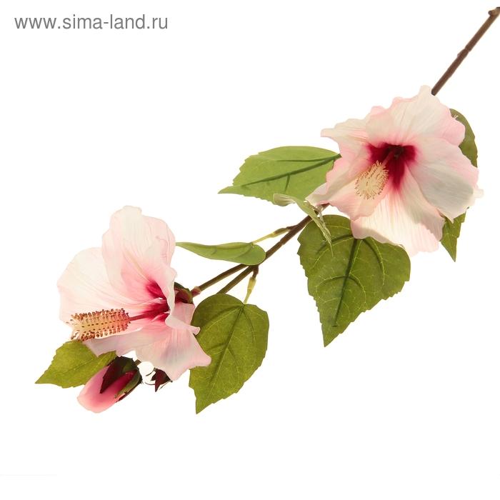 """Цветы искусственные """"Розовый гибискус"""""""