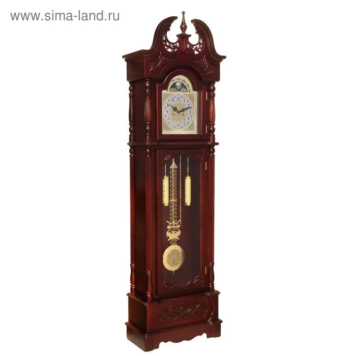 Часы напольные механические с боем, резные со шпилем, цвет дерева Вишня Пенсильвания