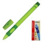 Ручка шариковая Stabilo LeftRight для правшей 0.5 мм зелёный корпус, стержень синий