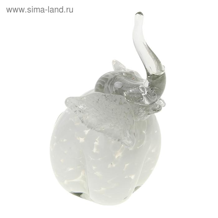 """Сувенир """"Слон"""" h180 мм.бел. стеклокрошка"""