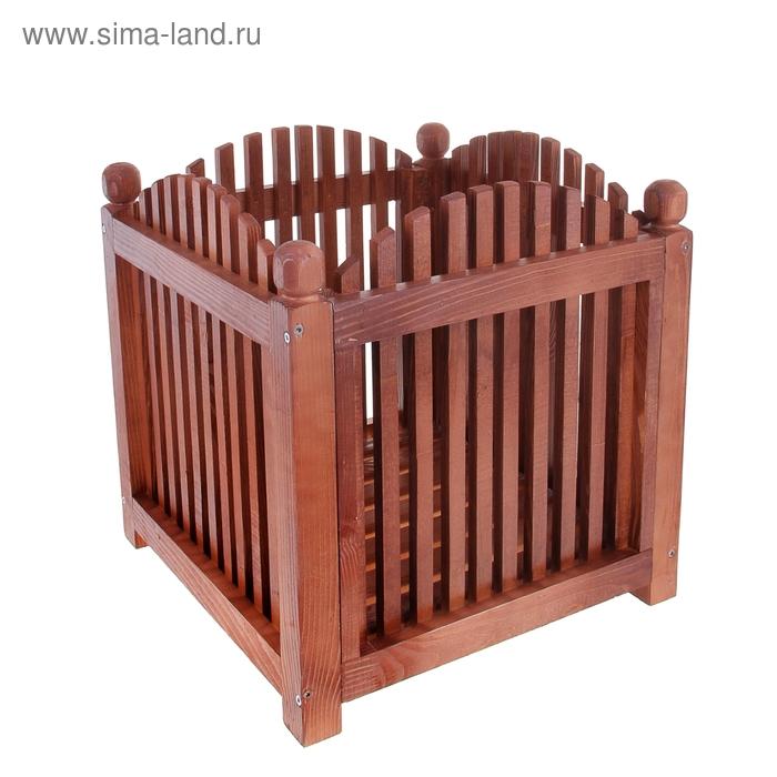 Цветочница деревянная № 5 50х50х50 см