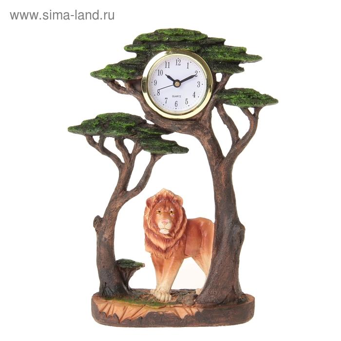 """Часы настольные """"Лев под деревом"""""""