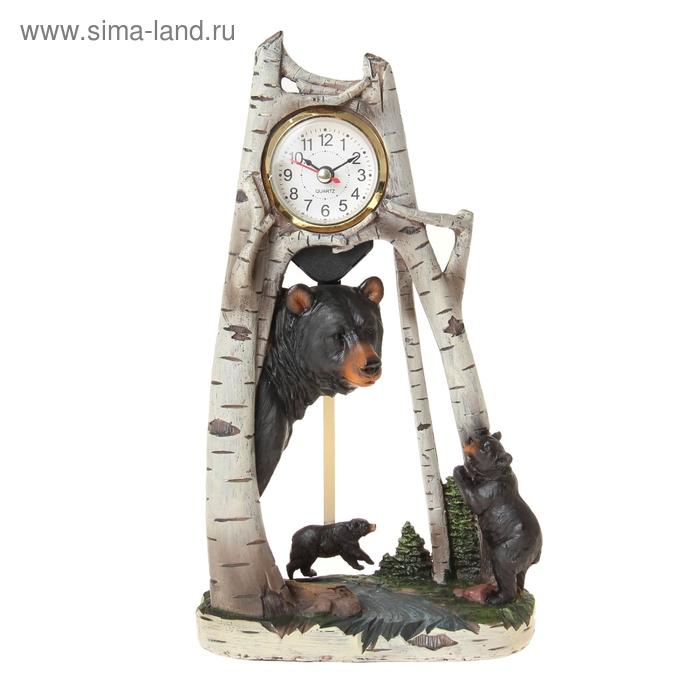 """Часы настольные """"Мишки в лесу"""""""