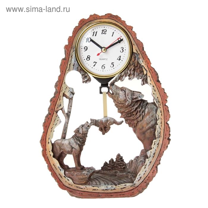 """Часы настольные """"Волчья стая"""""""