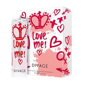 Туалетная вода Divage Princess D Love me, 20 мл Ош