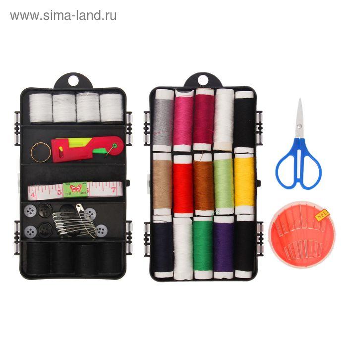 Набор для шитья в пластиковой коробке, 31 предмет