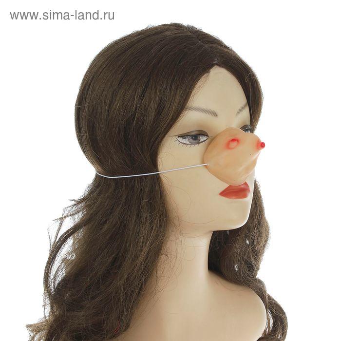 Нос на резинке с бородавками