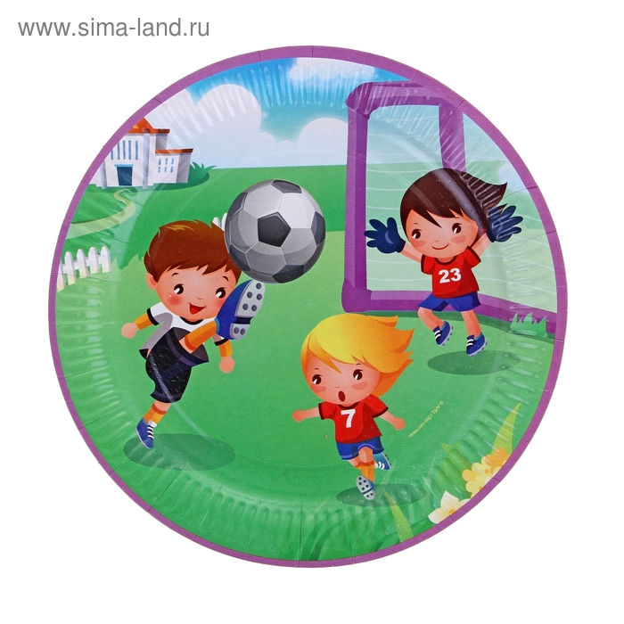 "Тарелка с ламинацией ""Футбол"", 23 см"