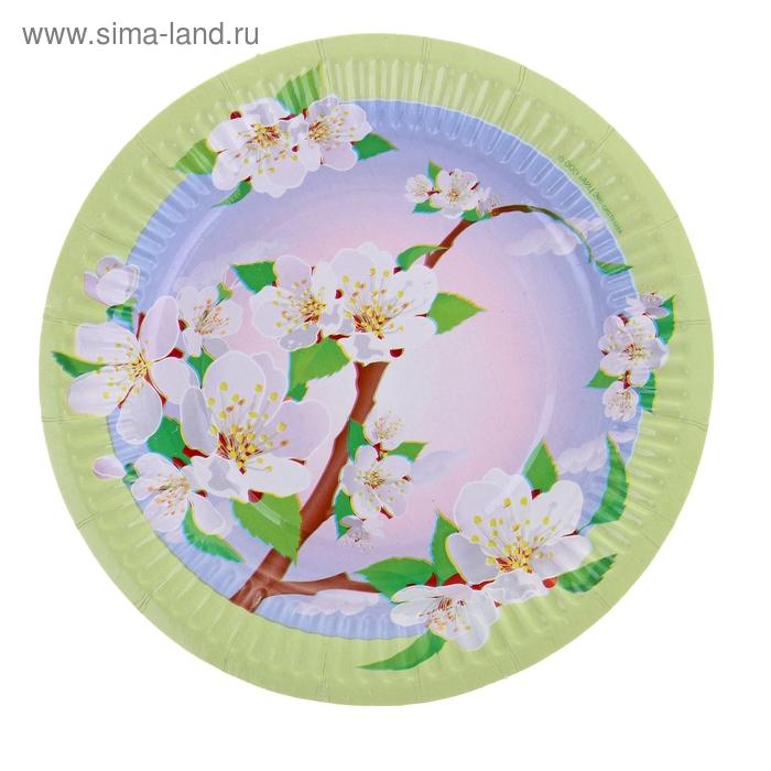 "Тарелка с ламинацией ""Яблоня"", 18 см"
