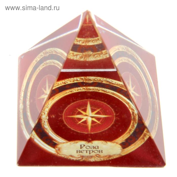 "Пирамидка с наклейкой серия Обереги ""Роза ветров"""