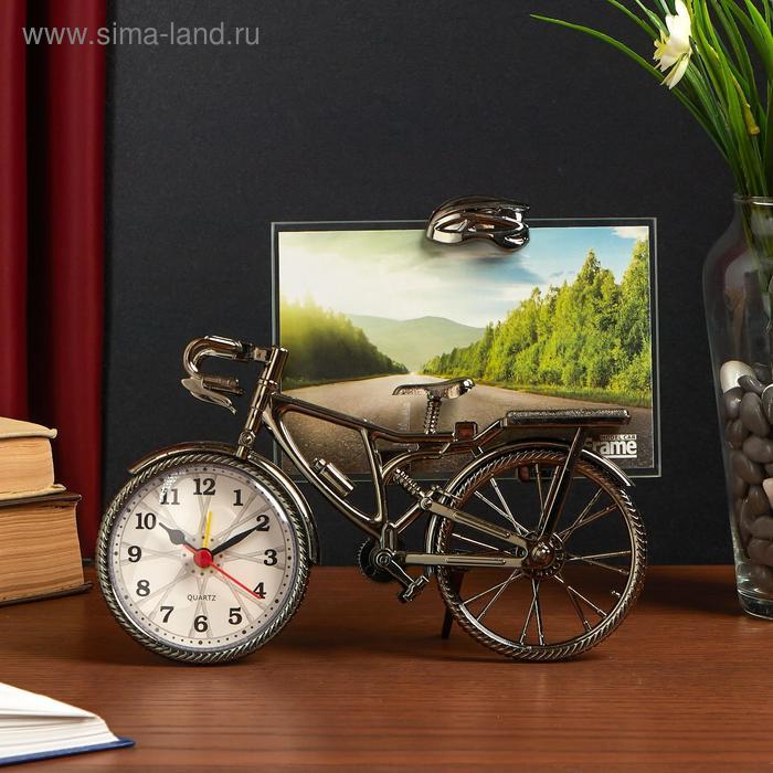 """Часы настольные с фоторамкой """"Велосипед"""""""