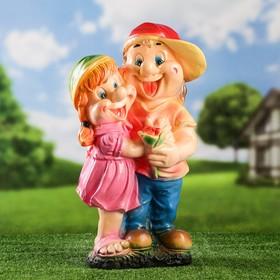 """Садовая фигура """"Мальчик с девочкой"""" средняя"""