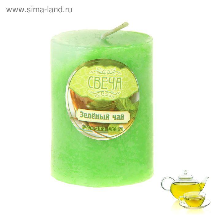 """Свеча восковая """"Столбик"""", аромат зелёный чай"""