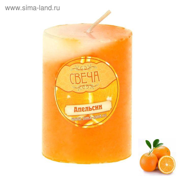 """Свеча восковая """"Столбик"""", аромат апельсин"""