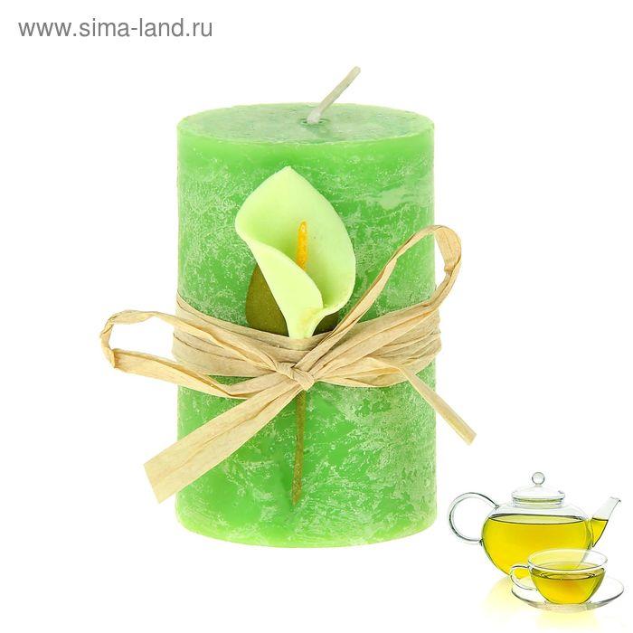 """Свеча восковая """"Иней"""", аромат зелёный чай"""