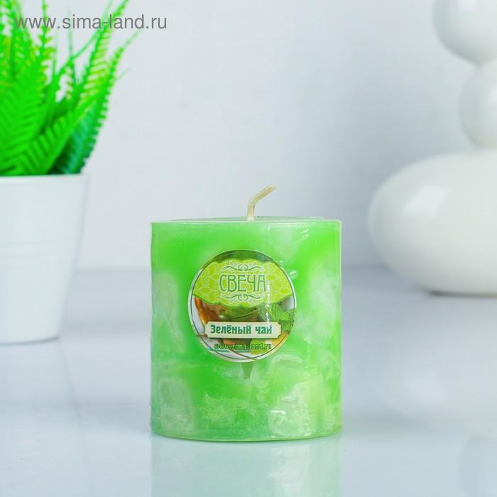 """Свеча восковая """"Слияние"""", аромат зелёный чай"""