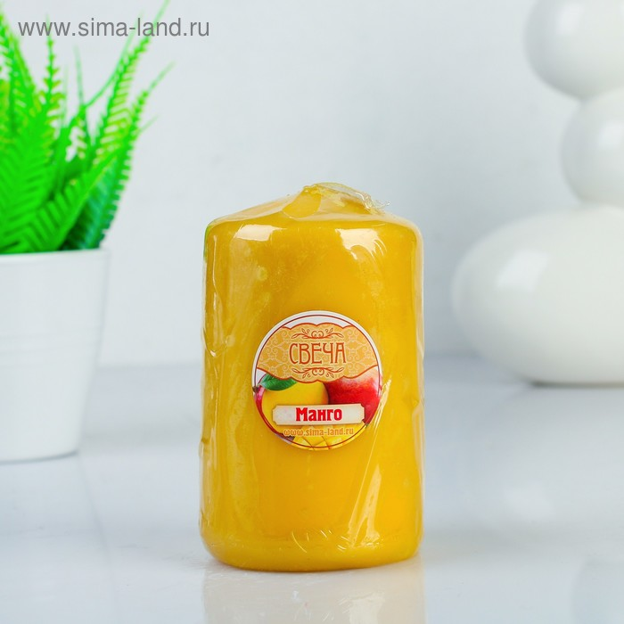 """Свеча восковая """"Конус"""", аромат манго"""