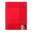 Папка на резинке А4 Proff. Next непрозрачная красная, пластик 0.5мм