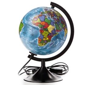 Глобус политический диаметр 210мм 'Классик' с подсветкой Ош