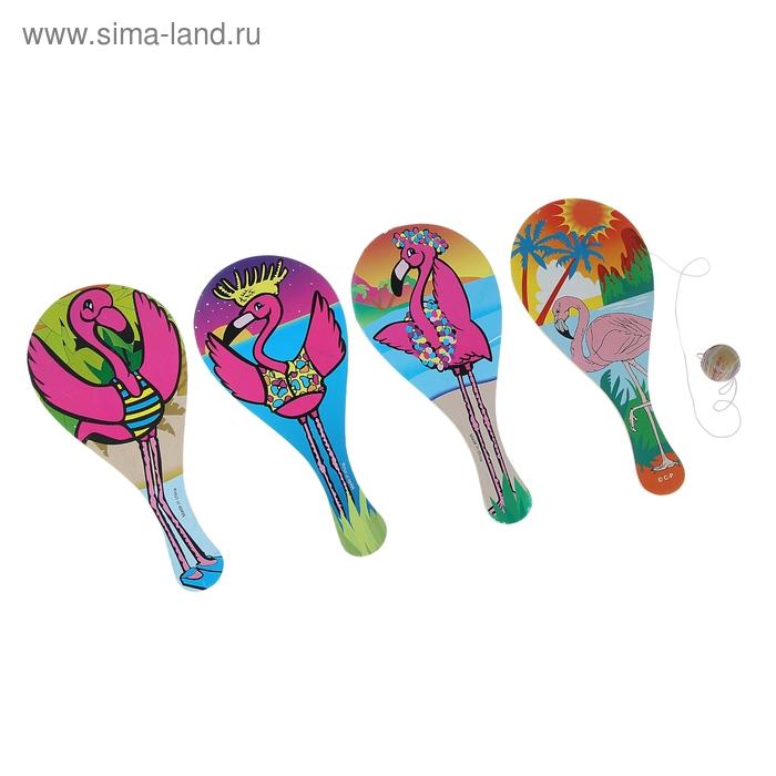 """Игра-лапта """"Фламинго"""", цвета МИКС"""