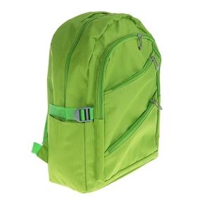 """Рюкзак молодёжный """"Однотонный"""", 1 отдел, 3 наружных и 2 боковых кармана, цвет зелёный"""