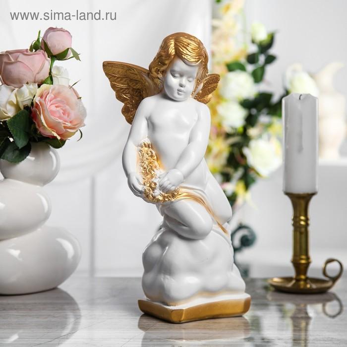 """Статуэтка """"Ангел"""" большая, бело-золотая"""