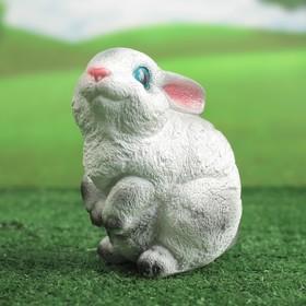 """Садовая фигура """"Зайчишка"""" малая, бело-серая"""