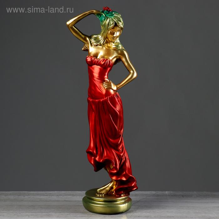"""Статуэтка """"Танцовщица"""" комбинированно-медный"""