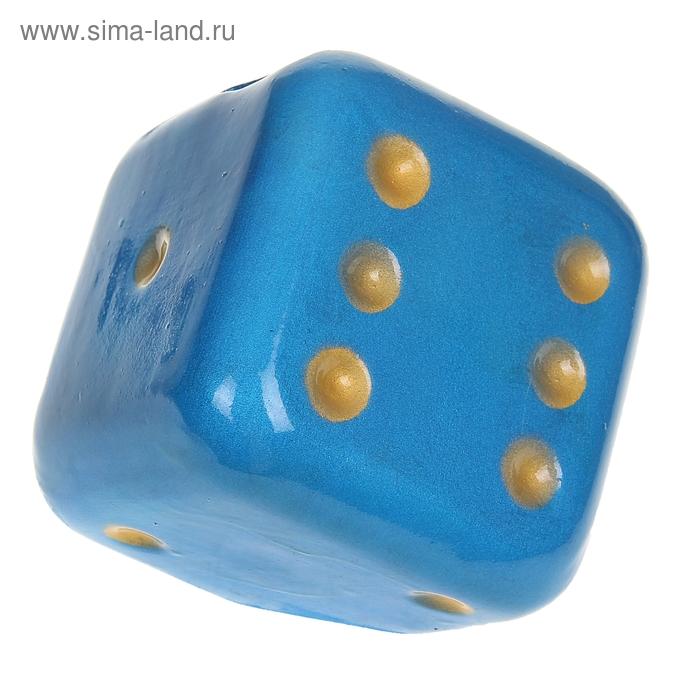 """Копилка """"Кубик"""" голубая"""