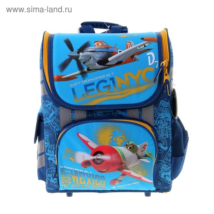Ранец стандарт раскладной Disney Planes 36*26*17 EVA-спинкой, для мальчика