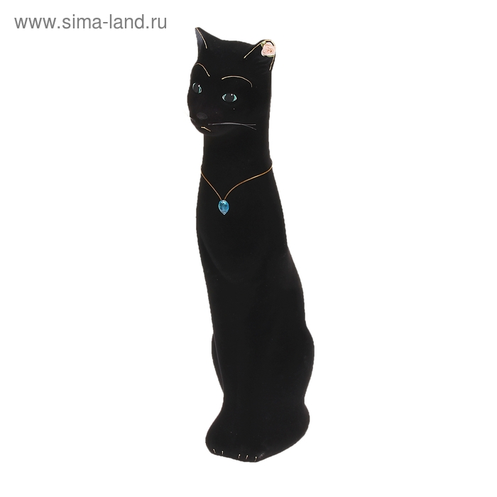 "Копилка ""Кошка Диана"" флок, чёрная"
