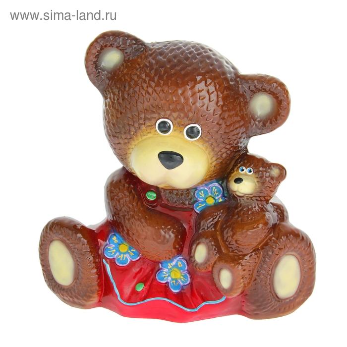 """Копилка """"Медведица с малышом"""" коричневая, микс"""