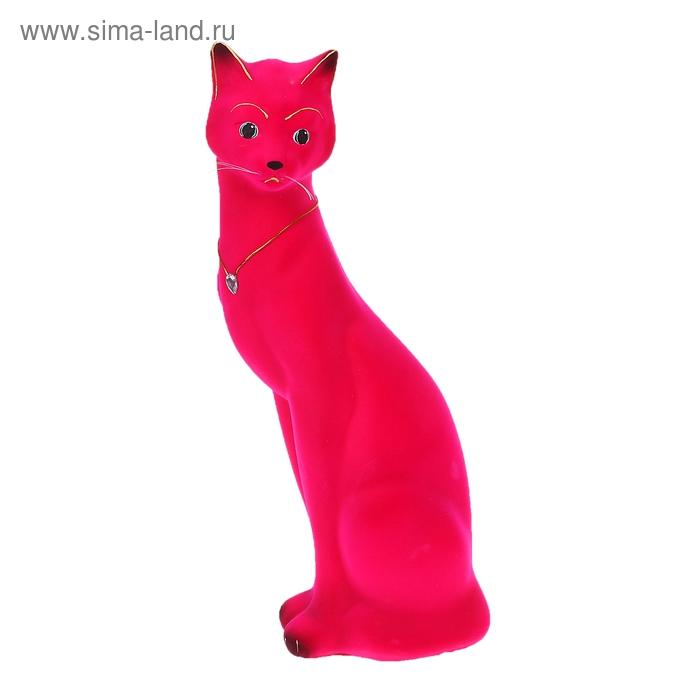"""Копилка """"Кошка Джесси"""" флок, розовая"""