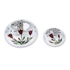 """Набор тарелок декоративных """"Красные цветы"""", 2 шт."""