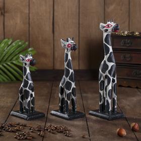 """Набор жирафов """"Пятнистые жирафы"""", 3 шт"""
