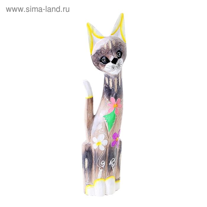 """Сувенир """"Котёнок с цветами на брюшке"""", большой"""