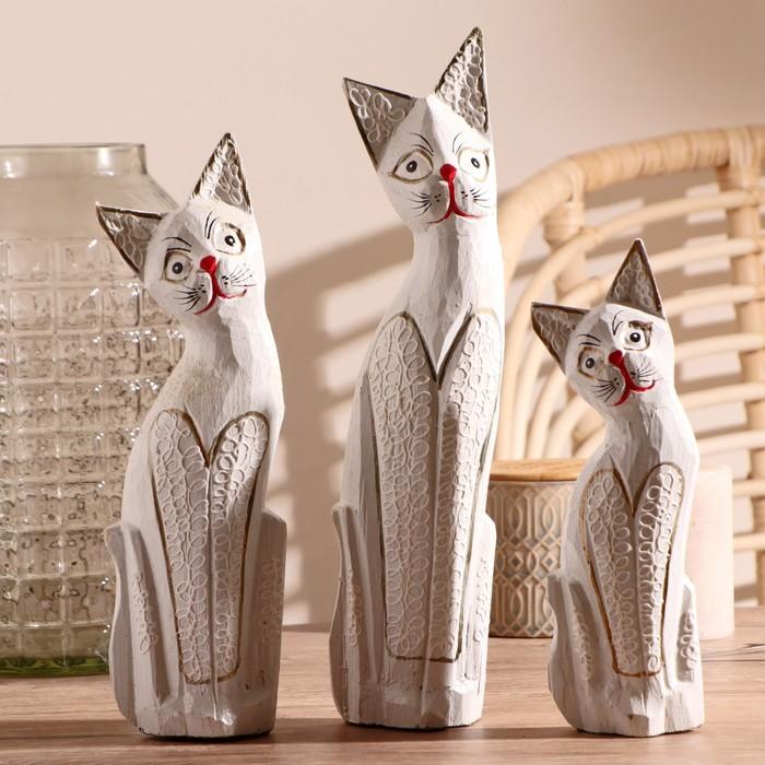"""Набор кошек сувенирных """"Кошки на брюшке петельки"""", 3 шт"""