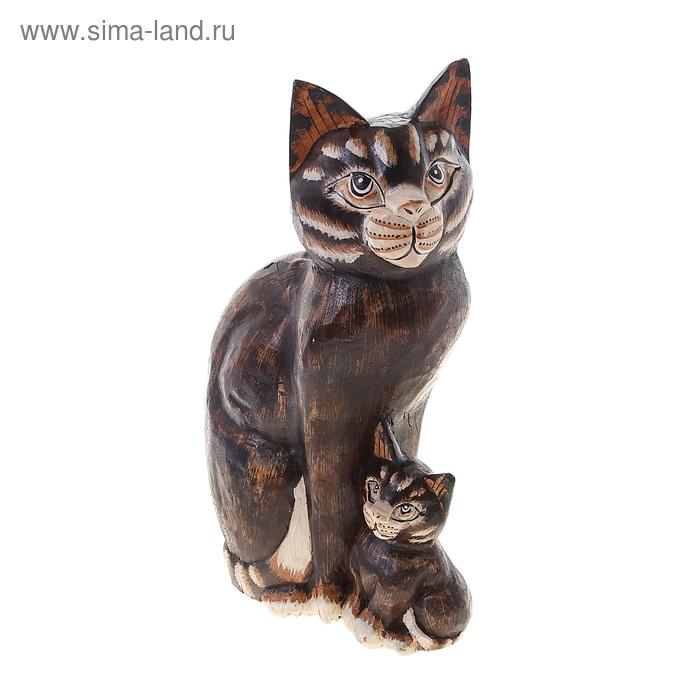 """Сувенир """"Индонезийская кошка с котенком"""""""