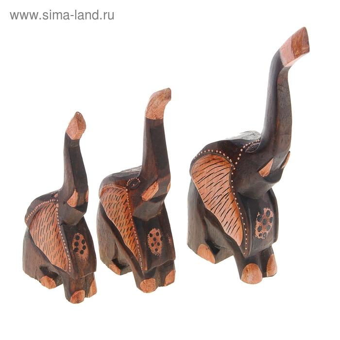 """Набор слонов """"Слоны Орнамент"""", 3 шт"""