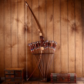 Сувенир Лук со стрелами из бамбука Ош