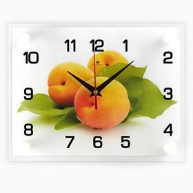 """Часы настенные прямоугольные """"Персики"""", 20х26 см микс"""
