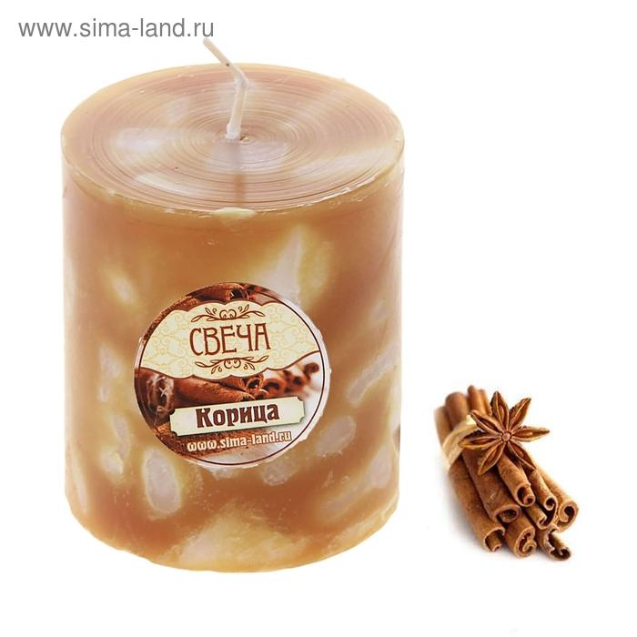 """Свеча восковая """"Кусочки льда"""", аромат корица"""