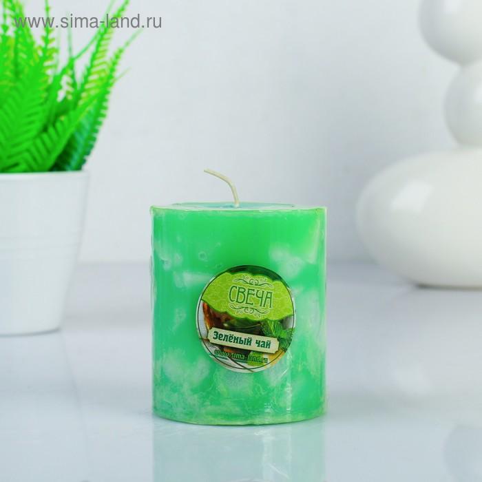 """Свеча восковая """"Кусочки льда"""", аромат зелёный чай"""