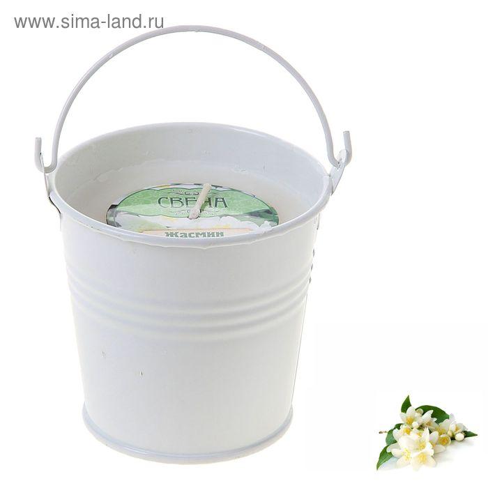 """Свеча восковая """"Ведёрко"""", аромат жасмин"""